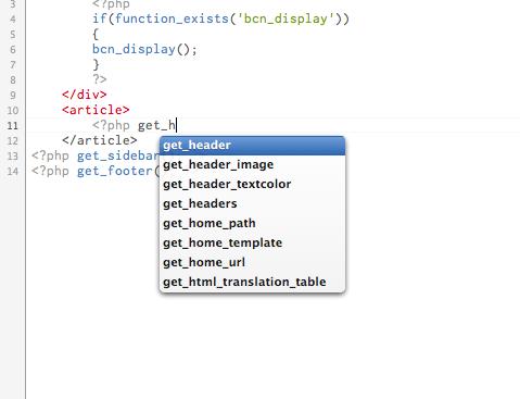 コード補足WordPress Syntax Mode